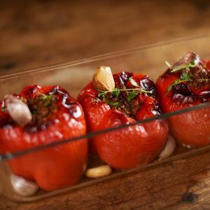 17_Fylld paprika med kalkon, timjan och vitlök