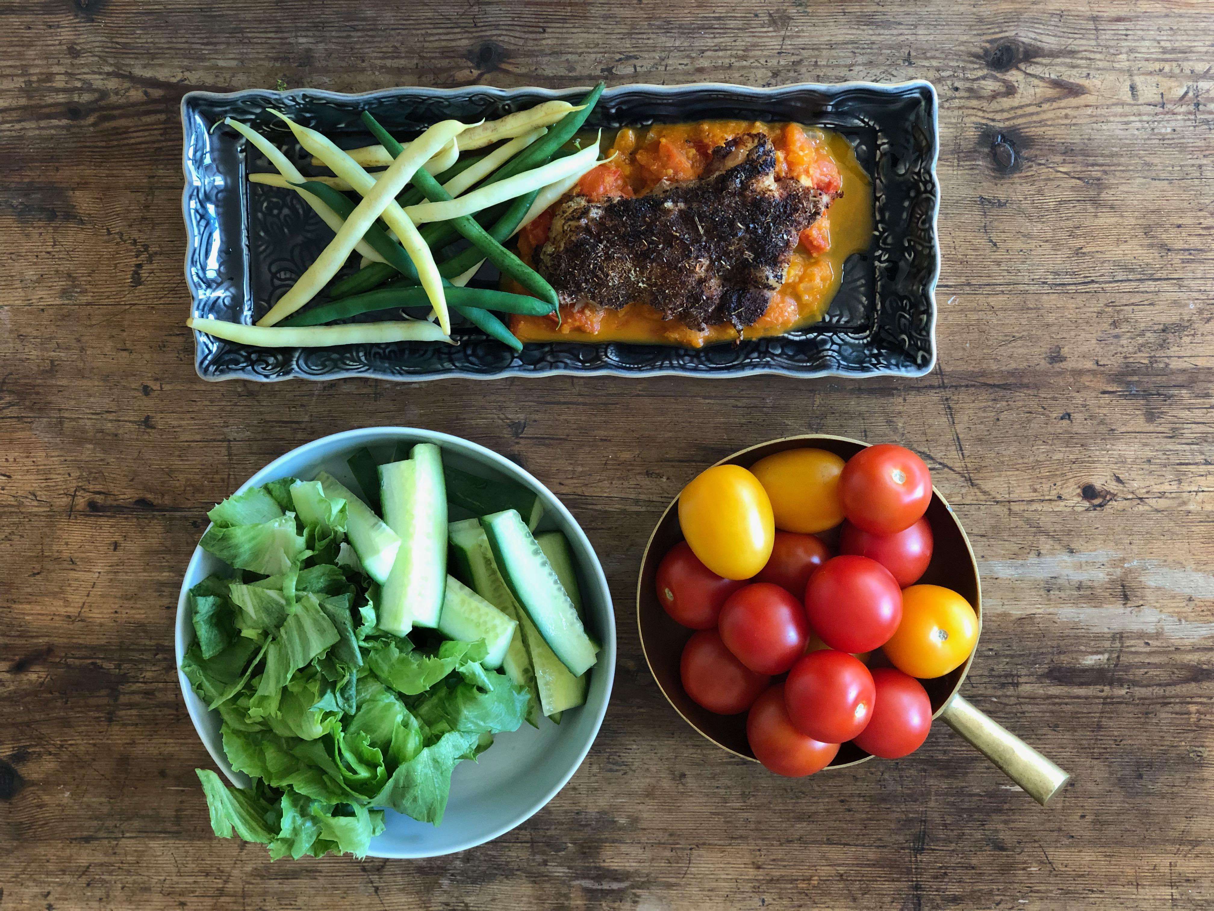 Ida Hallberg Kyckling tomatsalsa brytbönor
